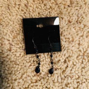 Jewelry - Black Beaded Dangle Earrings